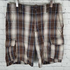 AEROPOSTALE | Authentic Cargo plaid cotton shorts